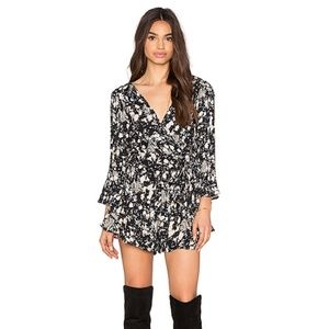 FREE PEOPLE All The Right Ruffles Romper Raven 364